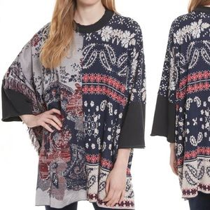 NWT Free People Pieced with Paisley Tunic XS/S